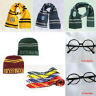 Harry Potter Scarf Tie Hat Gryffindor Slytherin Hufflepuff Ravenclaw Cosplay wow