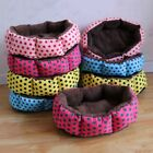 Pet Dog Octagonal Flannel Beds Puppy Cat Wave Point Warm Nest Kennel House New