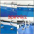 SPIRELLA Easy Glide Modern Shower Curtain RINGS Hooks Rail Loop Holders Chrome