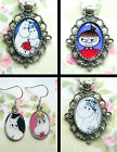 MOOMINS EARRINGS OR NECKLACE CHARM PENDANT