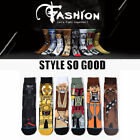 Star Wars Darth Vader Socks Cartoon Cut Mens Winter Warm Stockings Long Socks $2.37 USD