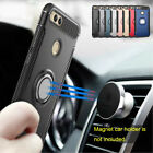 For Huawei Honor 7X Adsorption Ring Stand Shockproof Protective Hard Case Cover
