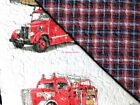 FIRE TRUCK ~ EMERGENCY VEHICLES SHEETS ~ FIRE TRUCK QUILT SHAM 5pc 100% COTTON