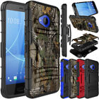 For HTC U11 Life Shockproof Hybrid Clip TPU Stand Hard Impact Phone Case Cover