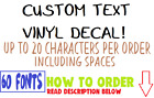 CUSTOM Vinyl word letter Decal Personalized Name Sticker Win
