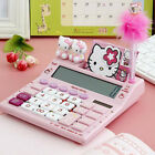 12 digits solar hello kitty calculator solar calculator with pen and notebook