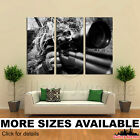 3 Panel Canvas Picture Print - Sniper Camouflage  bw 3.2