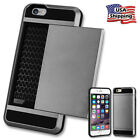 2-Credit Card Holder Case Fo iPhone X 6 6S 7 8 Plus With Slide Wallet Back Cover