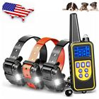 1/2/3 Dog Shock Collar 880 Yard Remote Control Waterproof Electric Pet Training
