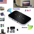2 in 1 Wireless Bluetooth Transmitter & Receiver Adapter Home TV Stereo Audio US