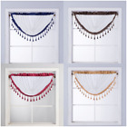 6PC WHOLESALE DEAL 2 SHADE ROUND FAUX SILK SMALL WINDOW VALANCE SWAG TOPPER(AMY)