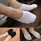 1/5Pairs Mens Loafer Boat Non-Slip Invisible Low Cut No Show Cotton Casual Socks