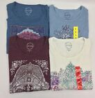 New Lucky Brand Women's Boat Neck 3/4 Sleeve Graphic T Shirt Variety