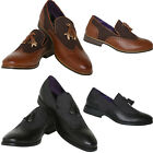 MENS FORMAL BROGUE BUSINESS SLIP ON CASUAL SMART DRESS OFFICE WEDDING SHOES NEW