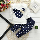 Baby Kids Boy Girl Mickey Minnie Hoodie Coat Sweatshirt Snowsuit Jacket Outfits