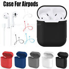 Case Cover for Apple AirPods + AirPod Strap Silicone Protective Charging