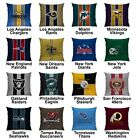 Football Superbowl Variety Team Logo Cotton Linen Cushion Pillow Case Cover #2 $10.99 USD on eBay