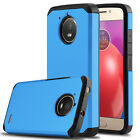 For Motorola Moto E4 Shockproof Hybrid Hard Phone Case + Glass Screen Protector