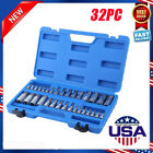 32PC MASTER ALLEN WRENCH BIT KIT HEX KEY FO RATCHET SOCKET TOOL SAE METRIC SET Y