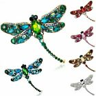 Women Retro Crystal Rhinestones Dragonfly Animal Brooch Pin Pendant Jewelry Gift