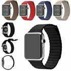 Genuine Leather Loop Watch Band Magnetic Buckle For Apple Watch iWatch 3 2 1 Gen