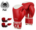 Verus Boxing Glove Red/Target Synthetic Leather size 8oz-16oz with Red Hand Wrap