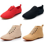 Women's Professional Jazz Dance Shoes Soft Canvas Lace Up Indoor Dancing Shoes