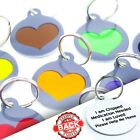 Round PET ID TAGS-Personalised Heart DOG Cat Tag-Durable Pet Discs-Engraved FREE
