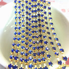 1yd 1-Row SS16 Cystal Rhinestone Trimming Sparse Cup Chain Claw Jewelry Craft P
