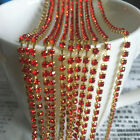 1yd 1-Row SS8 Cystal Rhinestone Trimming Sparse Cup Chain Claw Jewelry Craft #01