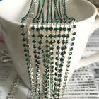 1yd 1-Row SS8 Cystal Rhinestone Trimming Sparse Cup Chain Claw Jewelry Craft #10