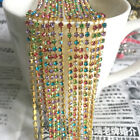 1yd 1-Row SS8 Cystal Rhinestone Trimming Sparse Cup Chain Claw Jewelry Craft #09