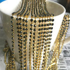 1yd 1-Row SS8 Cystal Rhinestone Trimming Sparse Cup Chain Claw Jewelry Craft #08