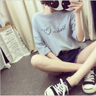Fashion Girls Women Summer Loose Short Sleeve T-shirt Student Korean Blouses
