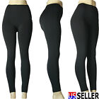 Women's Black knitted form-fitting Legging Stretch pencil Warm Pants Black