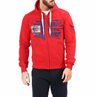 GEOGRAPHICAL NORWAY FOHNSON FELPA HOODIE UOMO RED