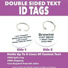 Round Metal PET ID TAGS- DOG Tag-Double Sided-Room For Lots of Personalised Text
