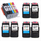 printer ink black - PG245 XL CL246XL PG 240XL CL241 Black or Color Ink Cartridge For Canon Printers