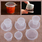 100Pcs Small Plastic Sauce Cups Takeaway Food Containers Pot Clear Boxes 25/50ML