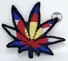 RASTA MARIJUANA Cannabis hemp green weed USA embroidered iron on sew on patch
