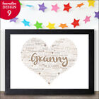 PERSONALISED Mothers Day Gifts for Granny Grandma Gran Nanny Nan Present for Her