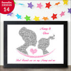 PERSONALISED Nanny Granny and Granddaughter Best Friends Mothers Day Poem Gifts