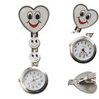 NURSE'S STAINLESS STEEL SMILE SMILEY FACE QUARTZ FOB POCKET WATCH CLAW ON AW
