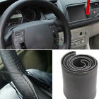 DIY Faux Leather Car Auto Steering Wheel Cover Protector+Needle Thread Kit Flowe