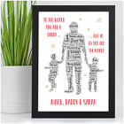 PERSONALISED Daddy Dad and Son Daughter Word Art Birthday Fathers Day Xmas Gifts