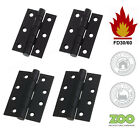 """Black Door Hinges 3"""" or 4"""" Ball Bearing Zoo Domestic Commercial Use Fire Doors"""