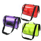 Travel faux Leather Meshy Soft Sided Zipper Two Pockets Pet Dog Carrier Cage Bag
