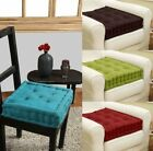 SOFT SEAT BOOSTER THICK CUSHION PADS ADULTS CHAIR GARDEN ARMCHAIR UK 10 CM