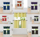 "Внешний вид - 3PC Window Insulated Blackout Grommets Tier Curtain Panel Valance Set 28""x14"" K7"