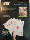 """Jumbo Plying Cards by Sharper Image, 8"""" X 11"""" New With Box"""